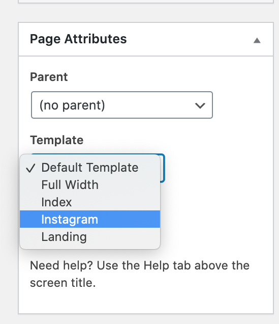How To Set Instagram Landing Page template settings
